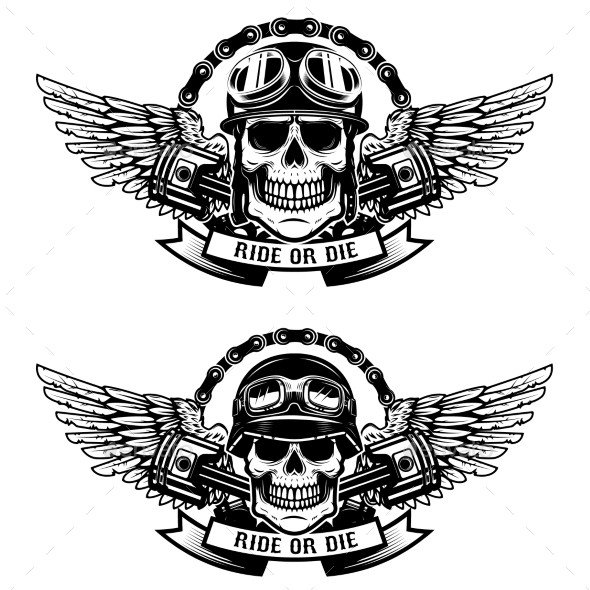 Motorcycle Club Patch Template Photoshop Animasi Bergerak Cafe Racer Tinkytyler Stock