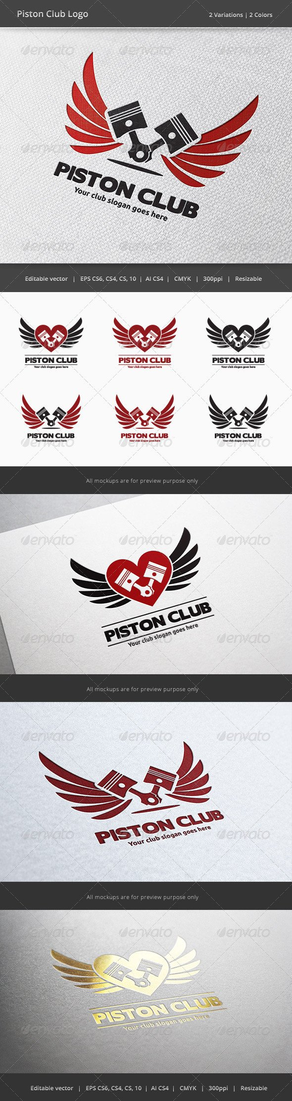 Motorcycle Club Patch Template Photoshop Piston Car and Motorcycle Club Logo