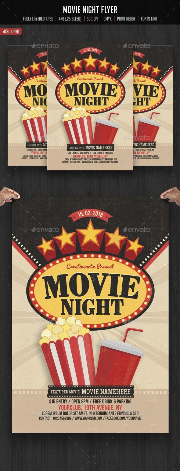 Movie Night Flyer Template 17 Best Images About Flyers Posters On Pinterest