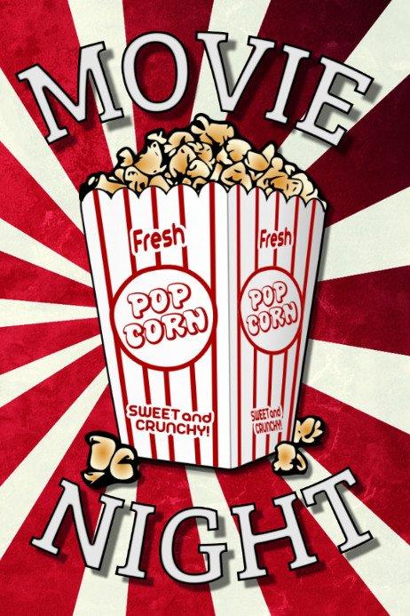 Movie Night Flyer Template Copy Of Movie Night