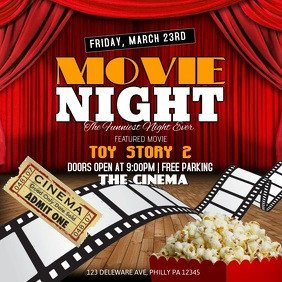 Movie Night Flyer Template Customize 24 730 event Flyer Templates