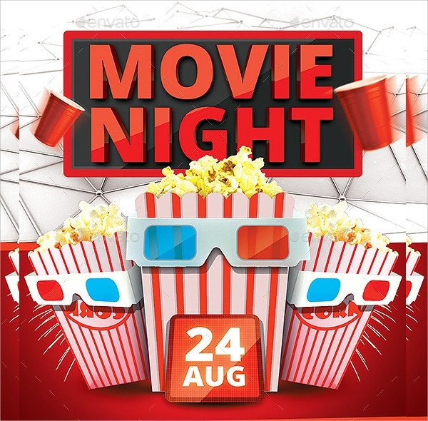 Movie Night Flyer Template Movie Night Flyer Template 17 Download In Vector Eps
