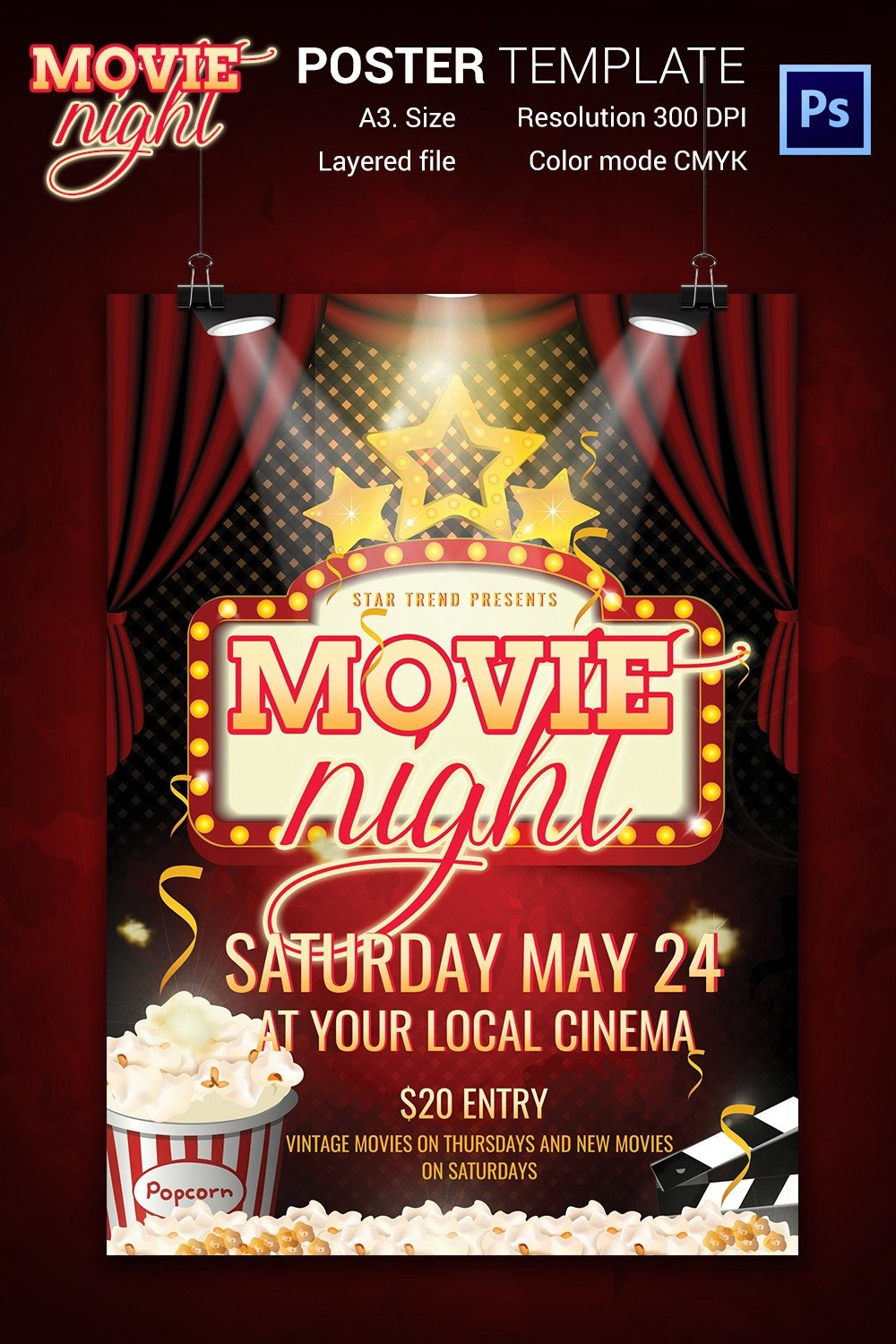 Movie Night Flyer Template Movie Night Flyer Template 25 Free Jpg Psd format