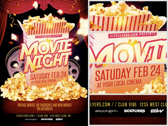Movie Night Flyer Template Movie Night Flyer Template Flyerheroes