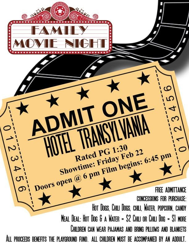 Movie Night Flyer Template Pta Movie Night Flyer Template