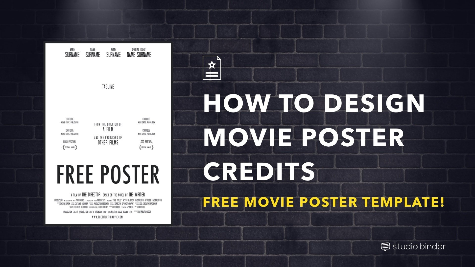 Movie Poster Template Free How to Make A Movie Poster [free Movie Poster Credits
