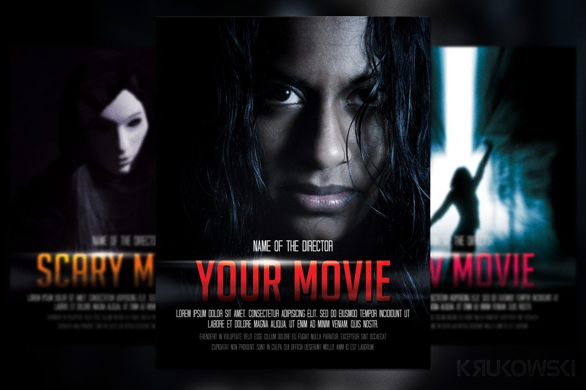 Movie Poster Template Free Movie Poster Flyer Template Flyer Templates Creative