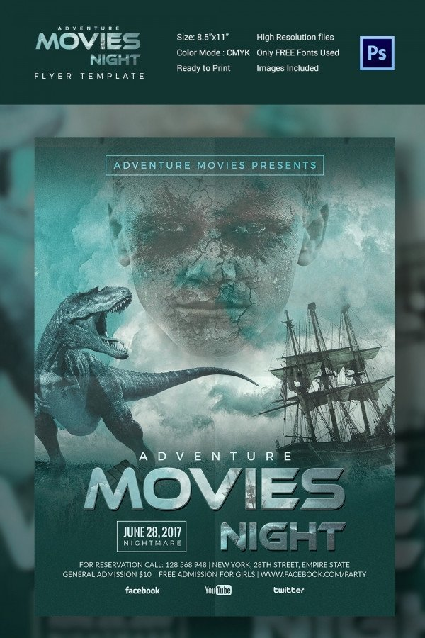 Movie Poster Template Free Movie Poster Templates – 44 Free Psd format Download