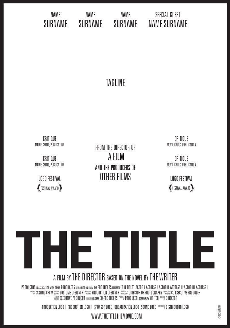 Movie Poster Template Free thetitle Cartel Webbar Graphic Design