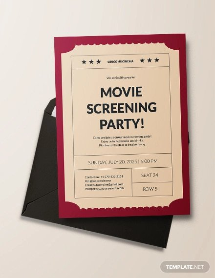 Movie Ticket Invitation Template 49 Ticket Invitation Templates Psd Ai Word Pages