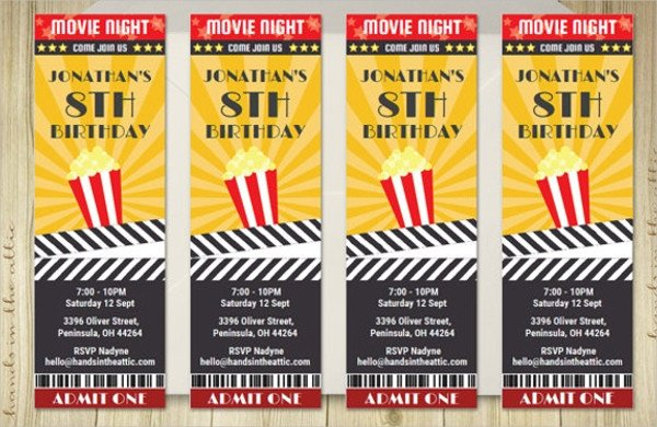 Movie Ticket Invitation Template 56 Printable Ticket Templates Psd Ai Word