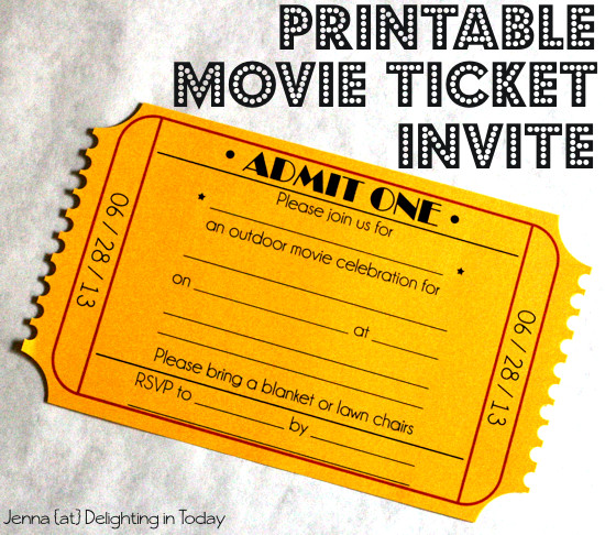 Movie Ticket Invitation Template What You Need for An Outdoor Movie Night