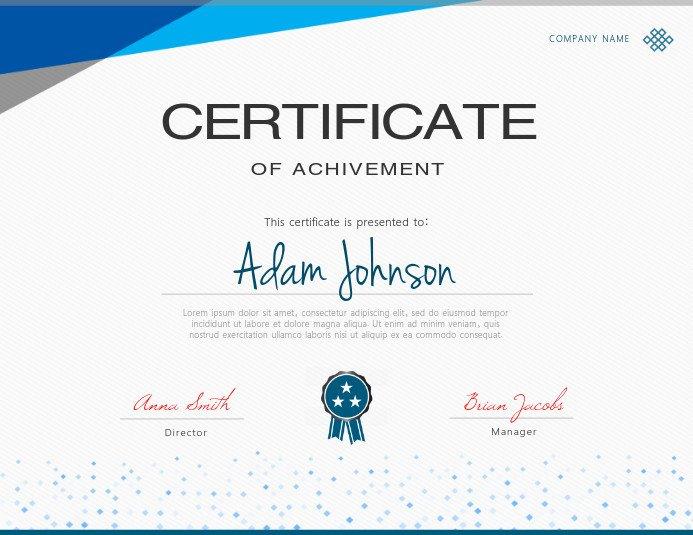 Movsm Certificate Template Blue Certificate Template