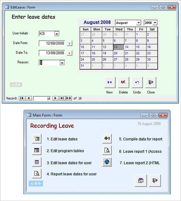 Ms Access Database Template 29 Microsoft Access Templates
