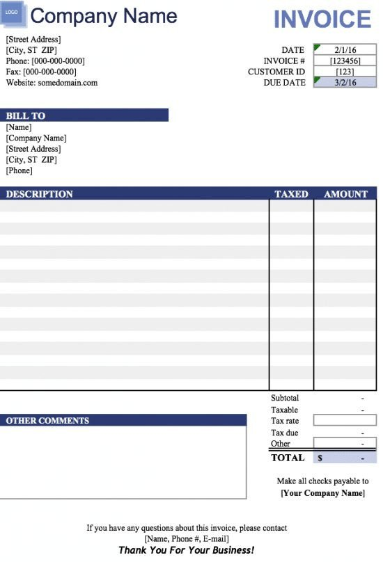 Ms Excel Invoice Template 19 Free Invoice Template Excel Easy to Edit and Customize