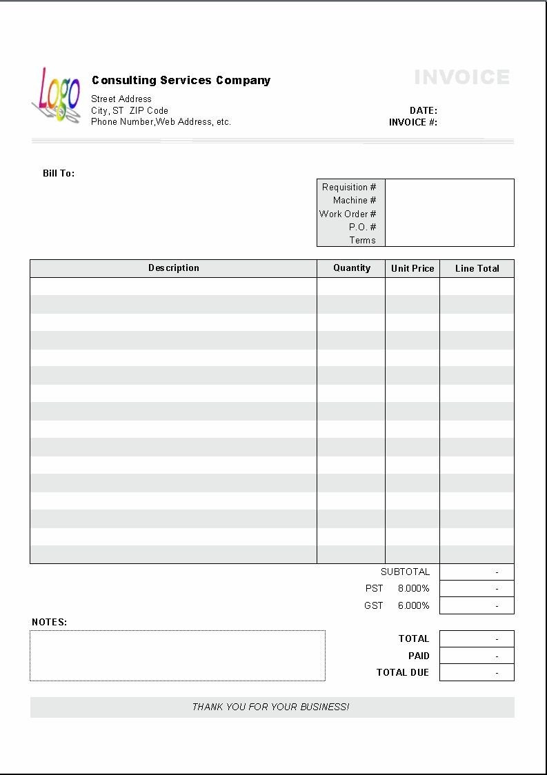 Ms Excel Invoice Template Excel Based Consulting Invoice Template Excel Invoice