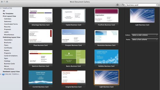 Ms Office Business Card Templates Fice 365 Line Templates