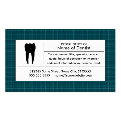 Ms Office Business Card Templates Plaid Dental Office Double Sided Standard Business Cards
