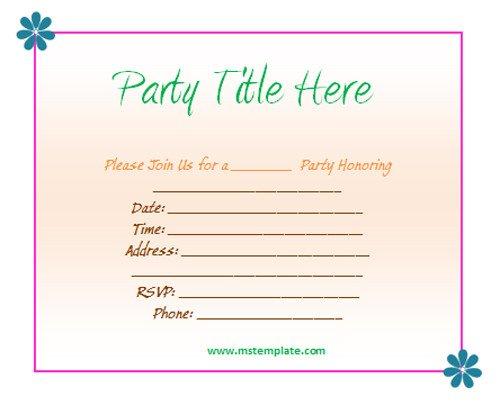 Ms Office Invitation Template Invitation Templates Free
