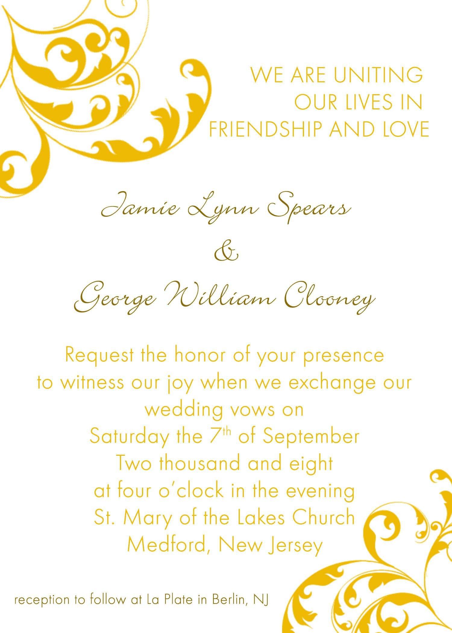 Ms Office Invitation Template Invitation Word Templates Free Wedding Invitation