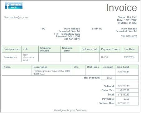 Ms Office Invoice Template Microsoft Fice Invoice