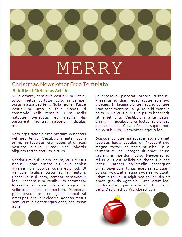 Ms Word Christmas Templates 27 Microsoft Newsletter Templates Doc Pdf Psd Ai