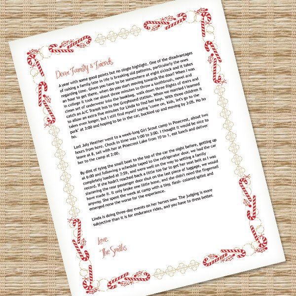 Ms Word Christmas Templates Christmas Letter Template for Ms Word – Download & Print