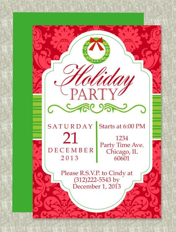 Ms Word Christmas Templates Christmas Party Microsoft Word Invitation Template