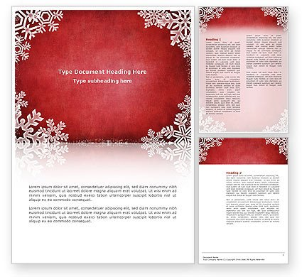 Ms Word Christmas Templates Christmas theme Flyer Template Background In Microsoft