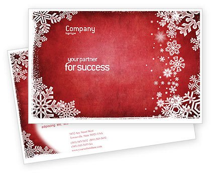 Ms Word Christmas Templates Christmas theme Postcard Template In Microsoft Word Adobe