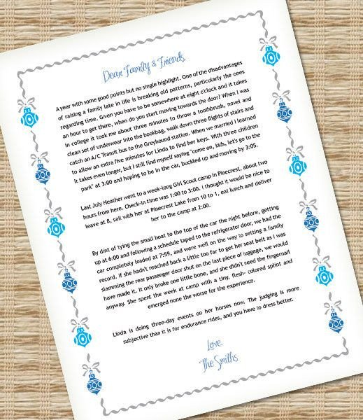 Ms Word Christmas Templates Microsoft Word Christmas Letter Template with ornaments