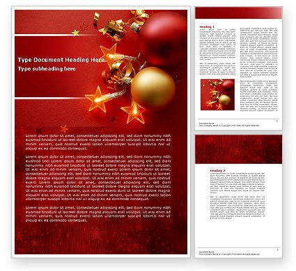 Ms Word Christmas Templates Red Christmas theme Word Template