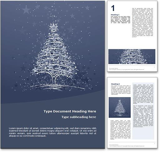 Ms Word Christmas Templates Royalty Free Christmas Microsoft Word Template In Blue
