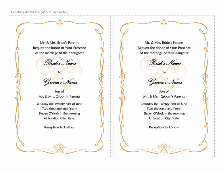 Ms Word Invitation Template Microsoft Word 2013 Wedding Invitation Templates