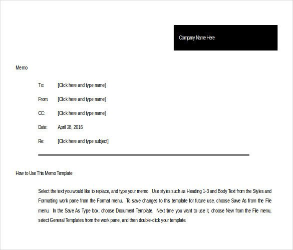 Ms Word Memo Templates 10 Memo Templates Microsoft Word 2010 Free Download