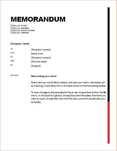 Ms Word Memo Templates 24 Free Editable Memo Templates for Ms Word