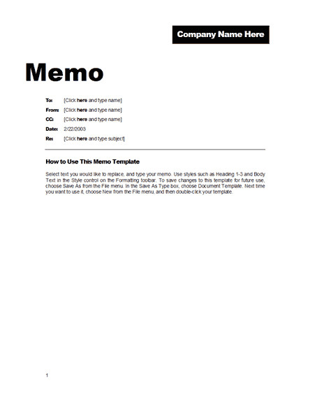 Ms Word Memo Templates Fice Memo format Free Template Downloads