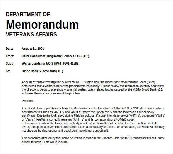 Ms Word Memo Templates Free Memo Template – 13 Free Word Excel Pdf Documents