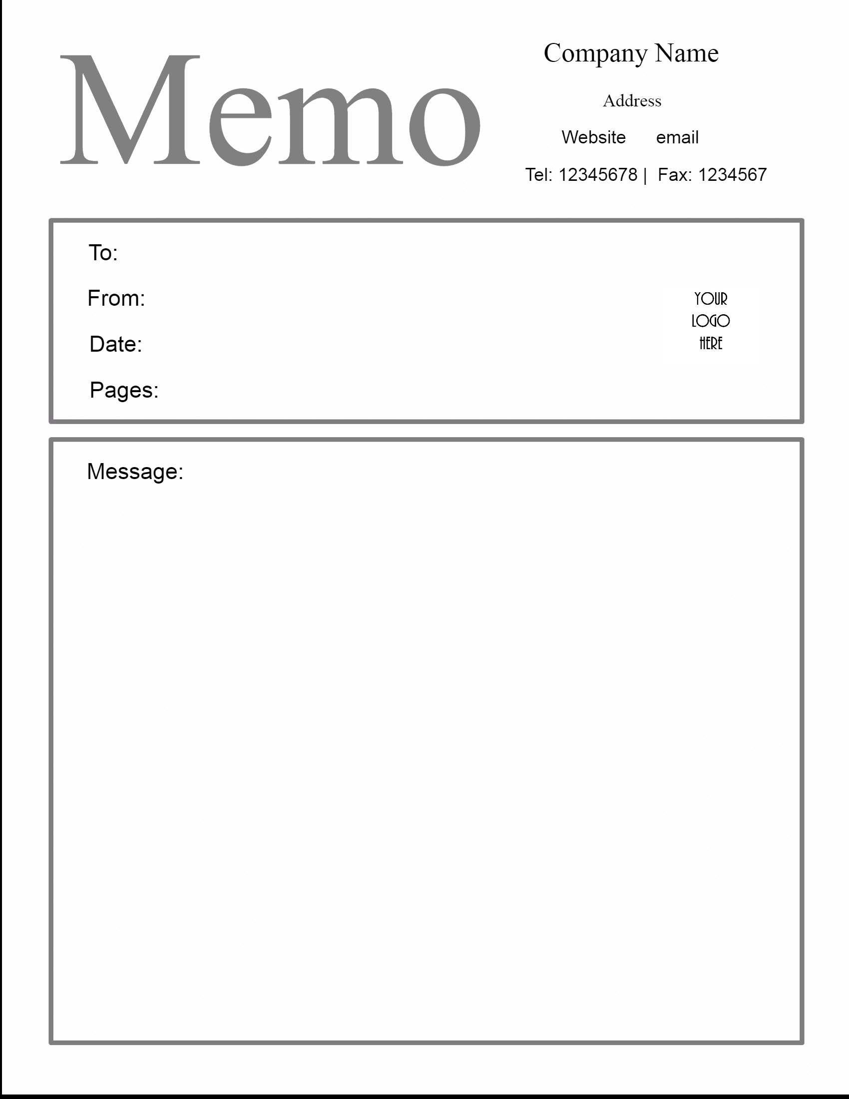 Ms Word Memo Templates Free Microsoft Word Memo Template