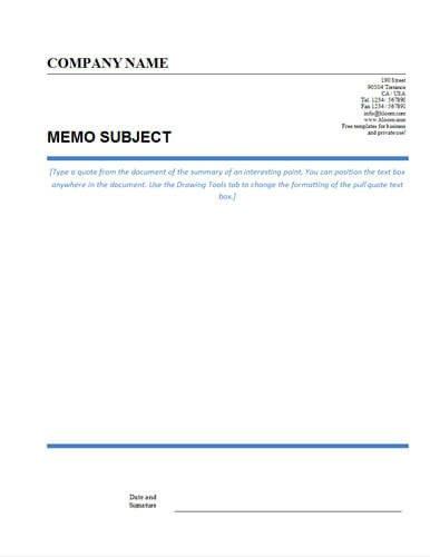 Ms Word Memo Templates Memo format [bonus 48 Memo Templates]