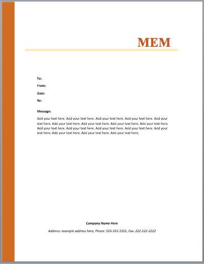 Ms Word Memo Templates Memo Word Templates – Microsoft Word Templates