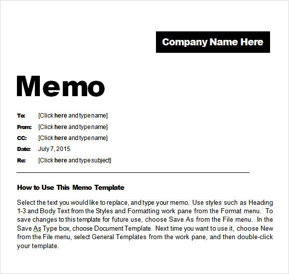 Ms Word Memo Templates Sample Confidential Memo 8 Documents In Pdf Word