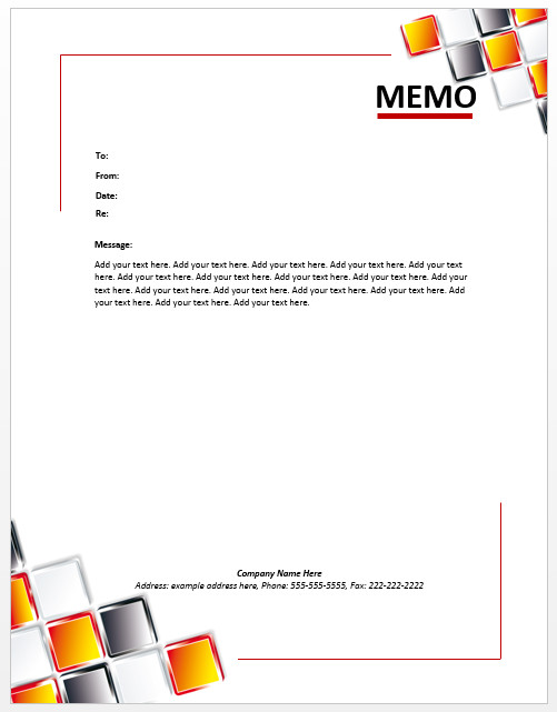Ms Word Memo Templates Staff Memo Template – Microsoft Word Templates