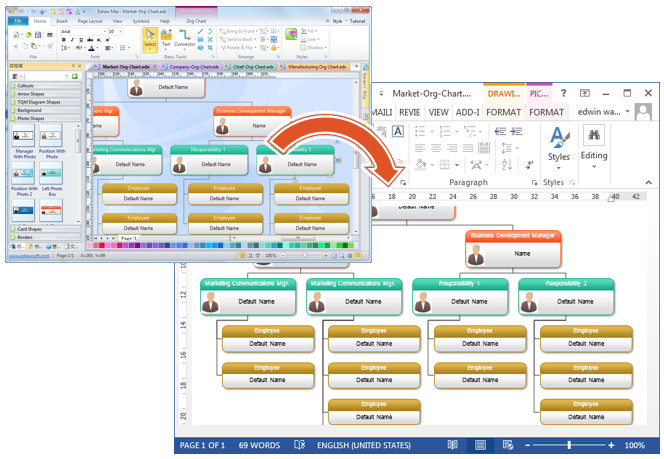 Ms Word org Chart Templates organizational Chart In Word