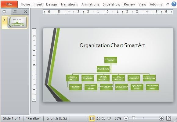 Ms Word org Chart Templates Widescreen organizational Chart Template for Powerpoint