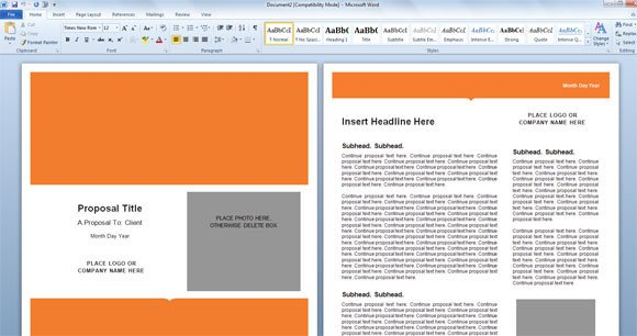 Ms Word Template Free Download Modern Proposal Template for Microsoft Word