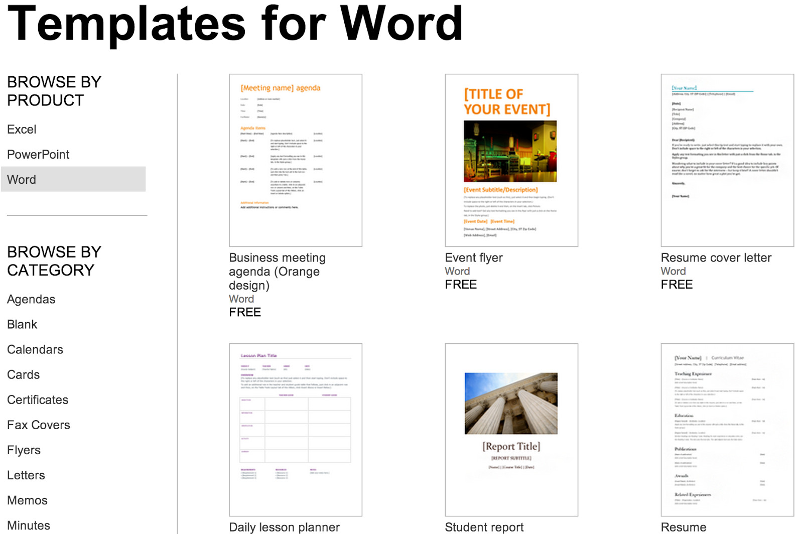 Ms Word Template Free Download Over 250 Free Microsoft Fice Templates & Documents