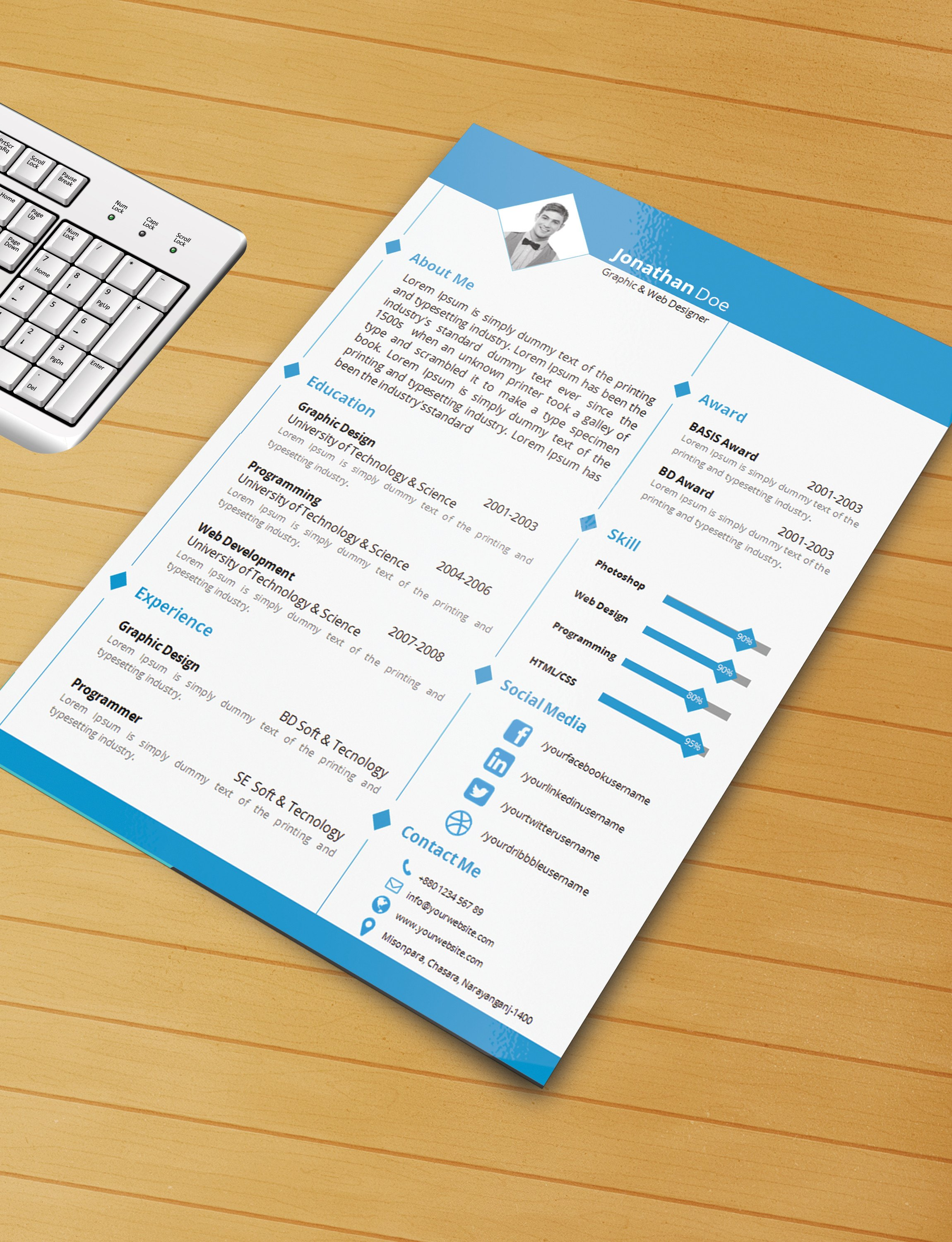 Ms Word Template Free Download Resume Template with Ms Word File Free Download by