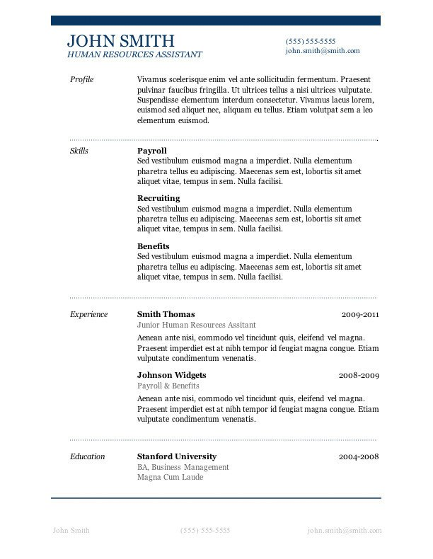 Ms Word Templates Resume 50 Free Microsoft Word Resume Templates for Download
