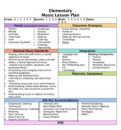 Music Lesson Plan Template Sew Much Music Perfect Poolside Planning Blog Hop